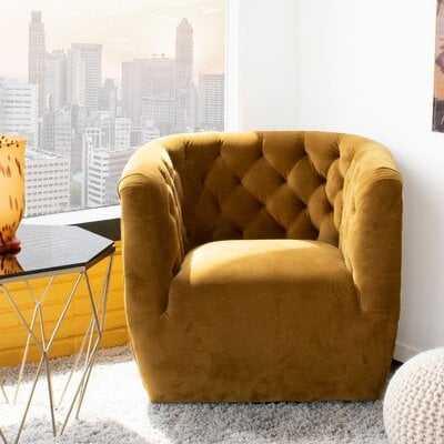Neher Swivel Chesterfield Chair - Wayfair
