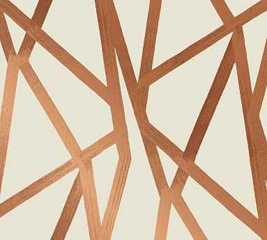 Intersections Urban Bronze Wallpaper - Pottery Barn