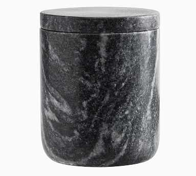Black Marble Accessories, Canister - Pottery Barn