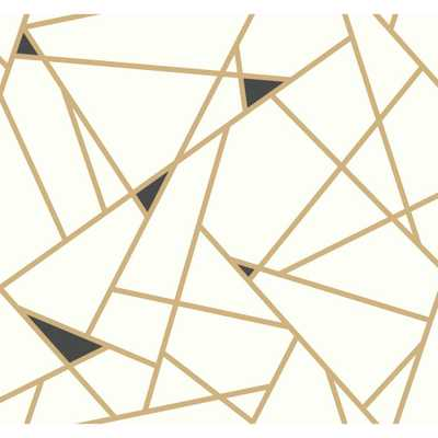 Risky Business 2 Prismatic Removable Wallpaper, Metallic Gold/Black/White - Home Depot