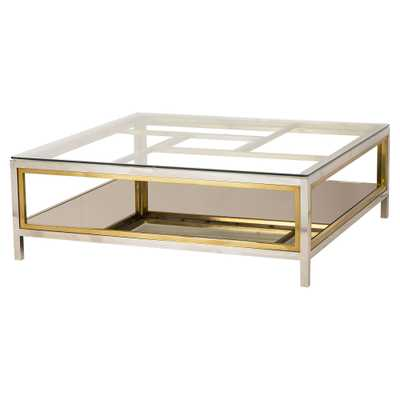Resource Decor Windmill Regency Glass Silver Gold Coffee Table - Kathy Kuo Home
