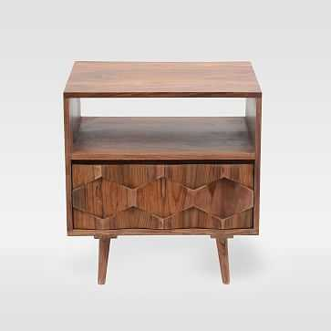 Modern Geo Wood Nightstand - West Elm