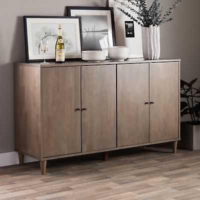 Jasper Laine Vilas Light Charcoal Grey Buffet - eBay