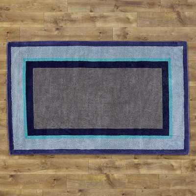 Color Block Blue Rug - Wayfair