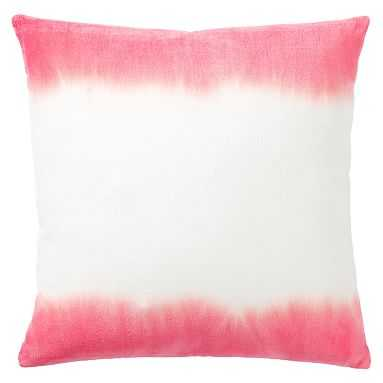 Dip Dye Monogram Pillow Covers, 18x18, Coral - Pottery Barn Teen