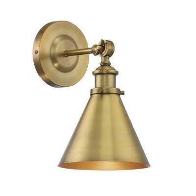 Filament Design 1-Light Warm Brass Sconce - Home Depot