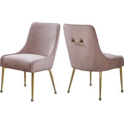 Stovall Velvet Upholstered Dining Chair (set of 2) - Wayfair