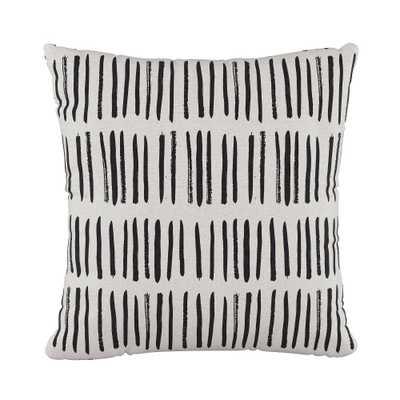 Dash Square Throw Pillow Black/White - Cloth & Co. - Target
