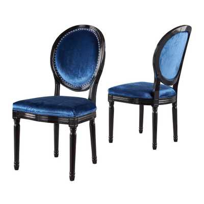 Leroy Set of 2 Traditional Dining Chair Navy Blue - Christopher Knight Home - Target