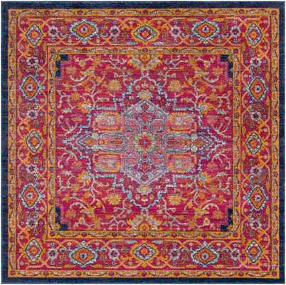 """Harput - 6'7"""" Square Area Rug - Neva Home"""