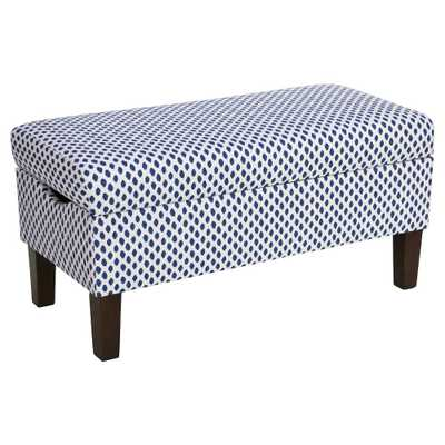 Skyline Bedroom Patterned Storage Bench - Skyline Furniture, Sahara Midnight White Flax - Target