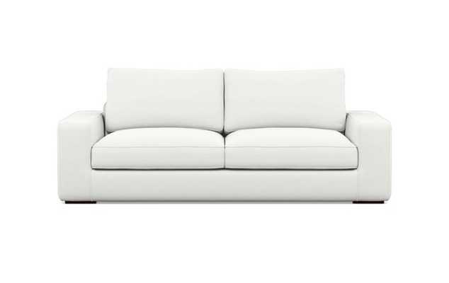Ainsley Sofa with Swan Fabric and Oiled Walnut legs - Interior Define