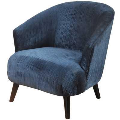 Barrel Back Chenille Lounge Chair Blue - Stylecraft - Target