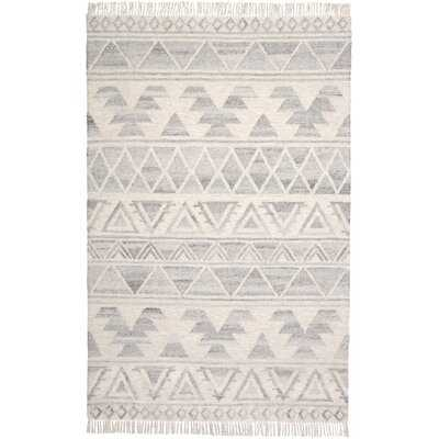 Kurtis Handwoven Flatweave Wool/Cotton Ivory Area Rug - 5'x8' - AllModern
