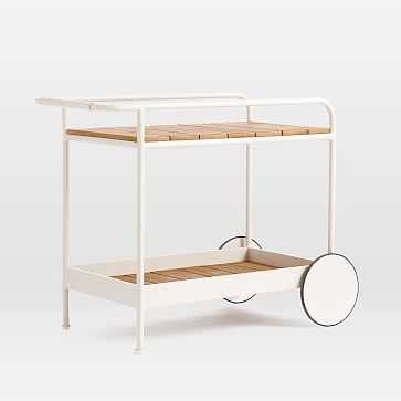 Halden Outdoor Bar Cart, Haze - West Elm
