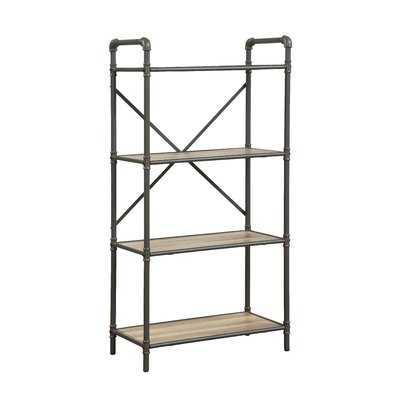 Christofor Industrial Metal Frame Standard Bookcase - Wayfair