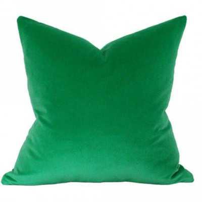 Emerald Green Velvet - 18x18 pillow cover - Arianna Belle