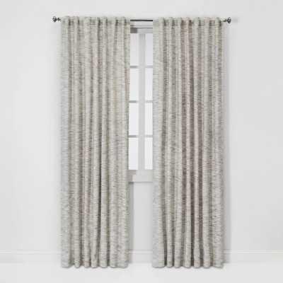 "84""x54"" Light Filtering Striation Herringbone Window Curtain Panel White/Gray - Project 62 - Target"