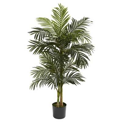 Nearly Natural 5' Golden Cane Palm Tree, Green - Target