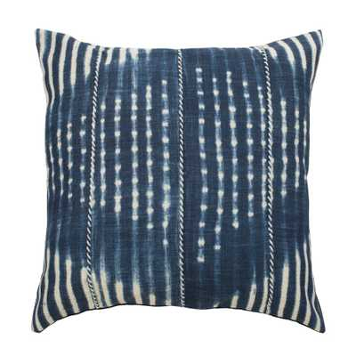 Laurena Square Throw Pillow Blue/Cream (Blue/Ivory) - Safavieh - Target