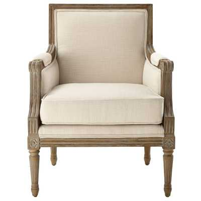 Miria Carre Natural Upholstered Accent Chair - Home Depot