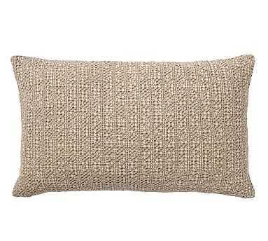 "Honeycomb Lumbar Pillow Cover, 16 x 26"", Driftwood - Pottery Barn"