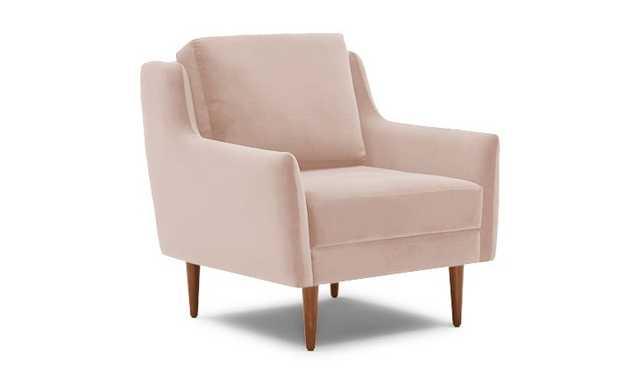 Pink Bell Mid Century Modern Chair - Key Largo Blush - Medium - Joybird