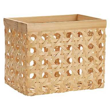 Open Weave Baskets, Medium, Single, Natural - Pottery Barn Teen