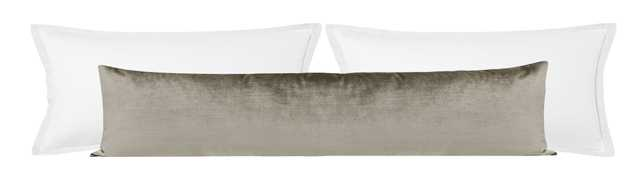 "The XL Lumbar :: Faux Silk Velvet // Quartz - 14"" X 48"" - Little Design Company"