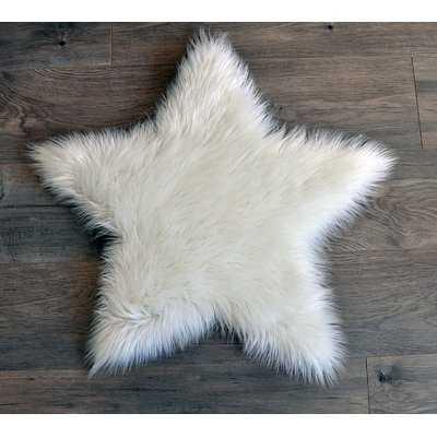 Mulder Faux Fur White Area Rug - Wayfair