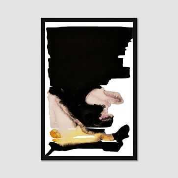 """Framed Print, Graphic Blot, I, 24""""x36"""" - West Elm"""