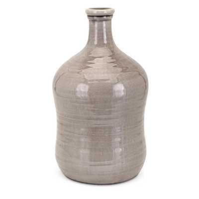 Imax Galilee Large Vase, Beige - Home Depot
