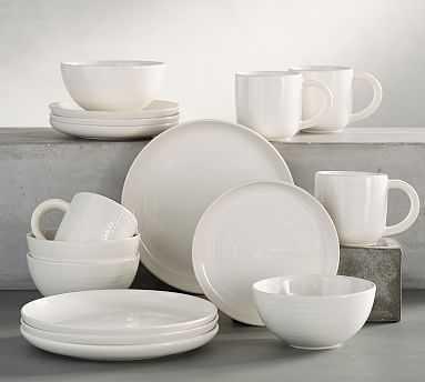 Joshua 16-Piece Dinnerware Set, Ivory White - Pottery Barn