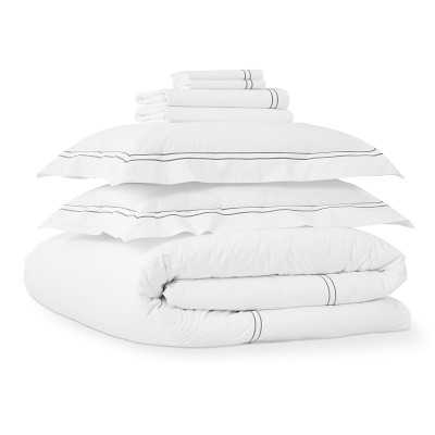 Chambers(R) Italian Hotel Complete Bedding Bundle, King, Gray - Williams Sonoma