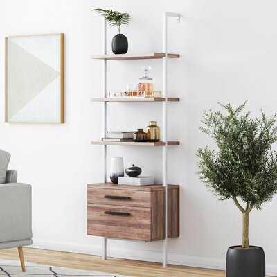 Moskowitz Open Shelf Industrial Ladder Bookcase - AllModern