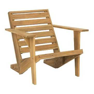 Lanty Adirondack Chair, Teak - West Elm