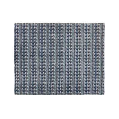 Onette Blue Dhurrie Rug 8'x10' - Crate and Barrel