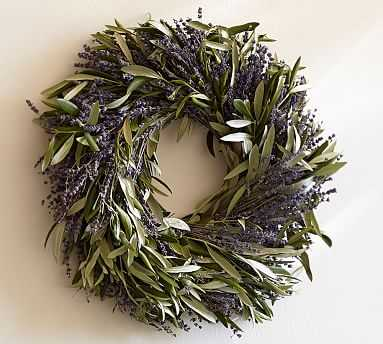 Dried Lavender & Olive Leaf Wreath - Pottery Barn