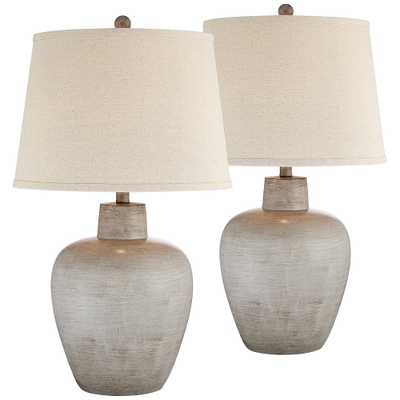 Glenn Southwest Urn Table Lamps Set of 2 - Style # 69H77 - Lamps Plus