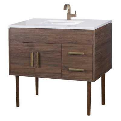 "Emily 37"" Single Bathroom Vanity Set - AllModern"