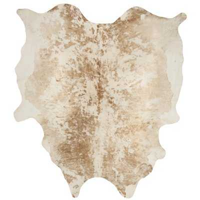 Lilly Hand-Woven Cowhide Tan Area Rug - Wayfair