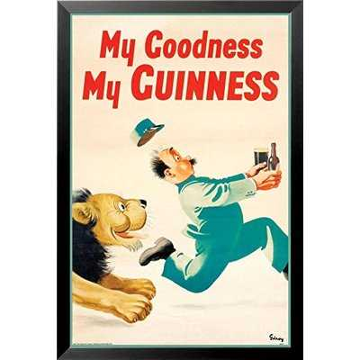 'Guinness Beer My Goodness My Guinness' Framed Graphic Art Print Vintage Advertisement Poster - Wayfair