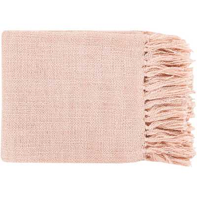 Madelyn Salmon (Pink) Acrylic Throw - Home Depot