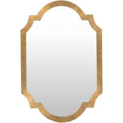 Morley 30 in. x 45 in. Contemporary Framed Mirror - Home Depot