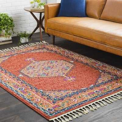 Denya Boho Persian Tassel Orange Area Rug - Wayfair