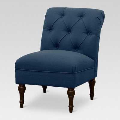 Tufted Back Slipper Chair - Denim Navy - Target