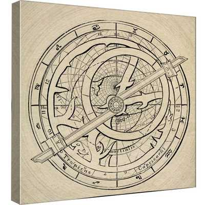 15.in x 15.in ''Astrology Chart'' Printed Canvas Wall Art, Multicolored - Home Depot