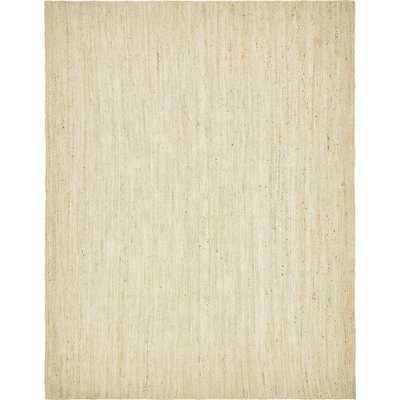 Neilson Hand-Braided White Area Rug - Birch Lane