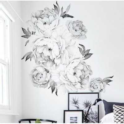 Peony Flowers Wall Decal - Birch Lane