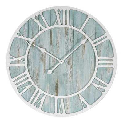 "Rosalinde Oversized 23.5"" Coastal Decorative Quartz Wall Clock - Wayfair"